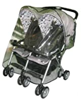 Sashas Rain and Wind Cover for Combi Twin Side by Side Stroller