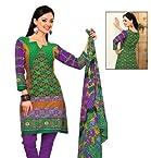 Triveni Cotton Salwar Suit (TSRJINSK103_Green)
