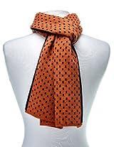 Noble Mount Mens Wool Blend Premium Scarf - Orange/Black