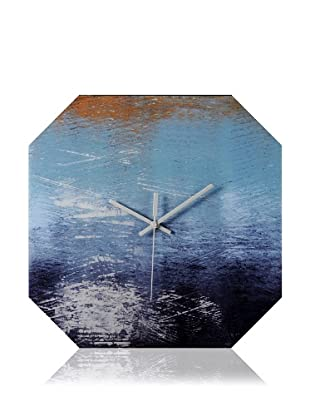 HangTime Designs Piers Edge Octa Wall Clock, Blue