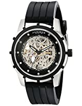 Akribos XXIV Mens AKR444SS Premier Delos Automatic Skeleton Black Watch