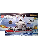 Branded 490 Pieces Navy Missile Ship & Helicoptor Building Blocks with 5 Men. (A PERFECT GIFT FOR YOUR CHILDREN)