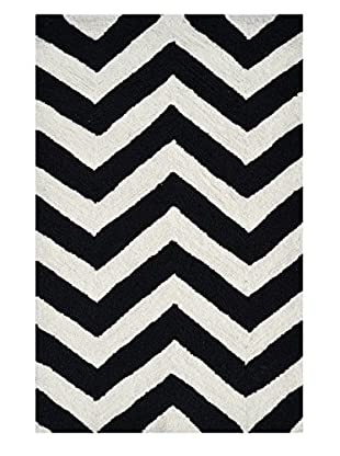 Pop Accents Chevron Indoor/Outdoor Scatter Rug, Black/White, 22