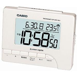 CASIO 目覚し時計 デジタル 電波時計 温度表示 DQD-80J-7JF