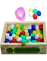 Little Genius Beads - Medium, Multi Color (Set of 100 Pieces)