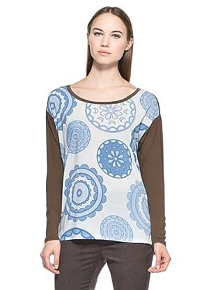 Eccentrica Camiseta Logrunners (Celeste / Marrón)
