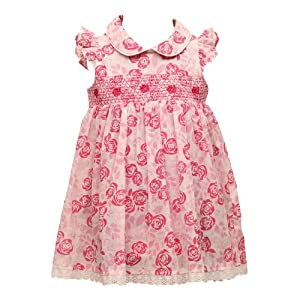 Stanza Floral Dress with Integrated Body Suit - Pink