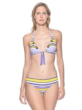 Rosapois Mare Bikini (Lilla/Giallo)