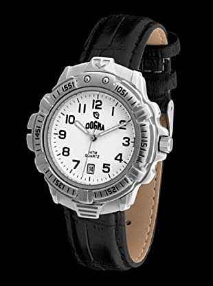 Dogma G1013 - Reloj de Caballero movimiento de quarzo con correa de piel negro
