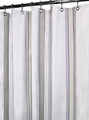 Park B. Smith Plum Stripe Shower Curtain, Plum, 72
