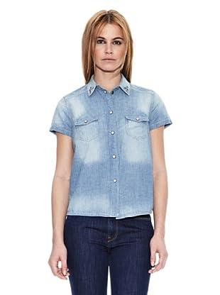 Pepe Jeans London Camisa Mujer Jaipur (Azul Denim)