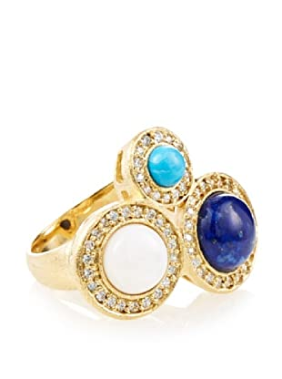 Rivka Friedman Asymmetrical 3-Stone Bezel Ring