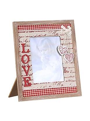 Romantic Style Marco De Fotos 13x18 Love Rojo / Blanco