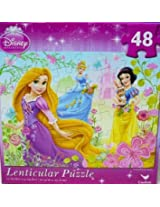 Disney Princess Lenticular Puzzle Tangled Rapunzel Snow White Cinderella 48 Piece By Cardinal