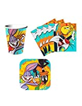 The Looney Tunes Show Birthday Party Supplies Set Plates Napkins Cups Kit for 16