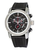 Burberry Men's BU7700 Endurance Black Chronograph Dial Rubber Strap Watch