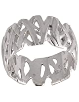 Silberuh Sterling-Silver Ring For Unisex ( Silver )