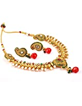 Megh Craft Paisley Shape One Gram Gold Plated Jewellery JWOG26