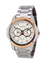 Exotica White Dial Analogue Watch for Men (EFG-05-TT-Steel-W)