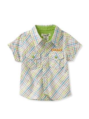 Da Lil Guys Baby Short Sleeve Woven Shirt (Turtle Beach)