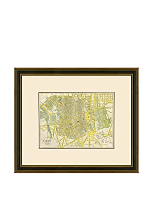 Antique Lithographic Map of Madrid, 1883-1903