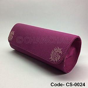 Chanchal Silk & Chanderi Clutch - Mauve