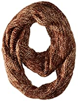 D&Y Women's Marled Knit Loop with Metallic Yarn