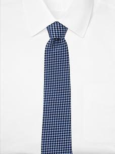 Aquascutum Men's Checkerboard Silk Tie (Blue/Navy)