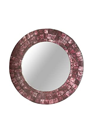 Jeffan Cameron Round Mirror (Purple)