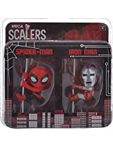 Neca Scalers Spiderman & Ironman (Multi-Color)