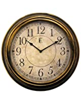 Geneva 13-1/2-Inch Antique Plastic Wall Clock,Gold