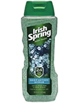 Irish Spring Body Wash, Deep Action Scrub, 15 Ounce