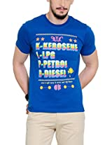 Yepme Men's Blue Graphic T-shirt -YPMTEES0253_S