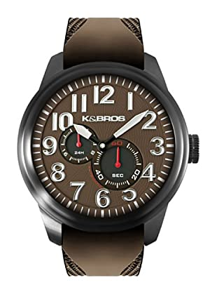 K&BROS 9460-2 / Reloj de Caballero  con correa de caucho Marrón