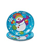 Snowman Dessert Plates 8 Pcs