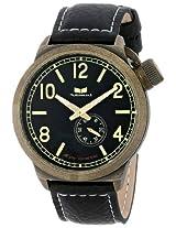 Vestal Unisex Ctn3L07 Canteen Black And Antique Gold Watch - Ctn3L07