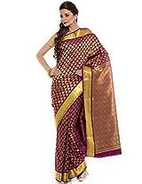 BANGALORE DUPIAN AND FLORAL SILK SAREE COLLECTIONS-Purple-MUS1520-VN-Art Silk Silk-Purple-MUS1520-VN-Art Silk Silk