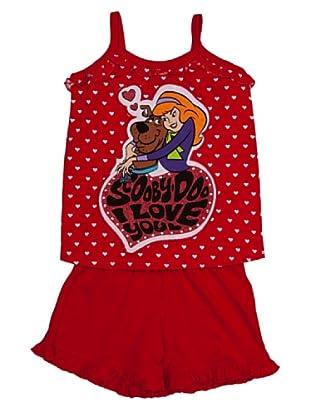Disney Pijama Niña Tirantes Scooby Doo (Rojo)