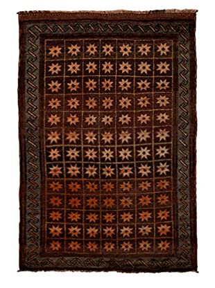 Solo Rugs One-of-a-Kind Tribal Rug, Brown, 4' 10