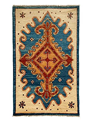 Darya Rugs One-of-a-Kind Tribal Rug, Royal, 5' x 8' 2