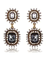 Cinderella Collection by Shining Diva Golden & Gray Crystal Hanging Earrings for Women 6990er