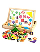 91 Pcs Wooden Magnetic Play Board for Kids - Ages 3+ Years (Letter / Digital)
