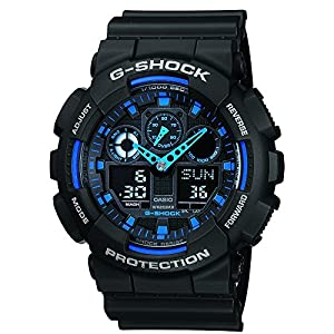 Casio G-Shock GA100-1A2 Ana-Digi Men's Watch