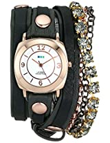 La Mer Collections Women's LMMULTI7001 Phantom Collection Sapphire Crystal Wrap Watch