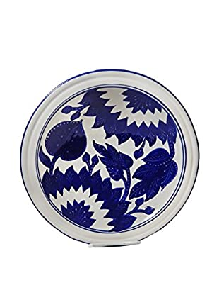Le Souk Ceramique Jinane Small Serving Bowl, Blue/White