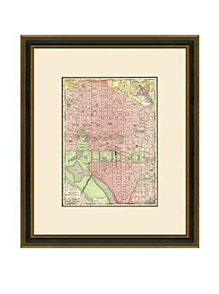 Antique Lithographic Map of Washington DC, 1886-1899