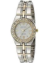 Anne Klein Women's 10-7977MPTT Swarovski Crystal Accented Two-Tone Watch