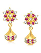 Meenaz South Indian Traditional Cz Jhumki Fancy Party Wear American Daimond Earrings For Women & Girls- J112