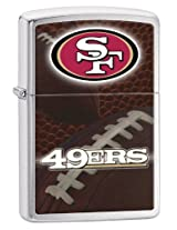 Zippo Pocket Lighter NFL San Francisco 49ers Brushed Chrome Pocket Lighter