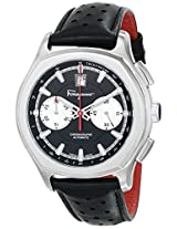 "Salvatore Ferragamo Men's FQ1080014 ""Lungarno"" Stainless Steel Automatic Watch with Black Leather Band"